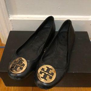 Tory Butch Black Reva Flats size 7